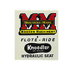Knoedler Float Ride Seat Decal