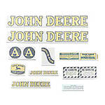 JD A Styled Hood 1947-52, Vinyl Cut Decal Set