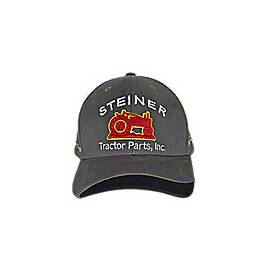 Grey Fabric Steiner Tractor Parts Hat (Winter Hat, Baseball Cap)