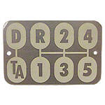 Transmission Shift Pattern Plate