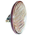 12-volt Sealed Beam Combination Rear Lamp w/ transparent red background using separate bulb