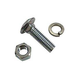 Front Wheel Weight Carriage Bolt,  Washer And Nut Kit