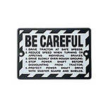 Be Careful Plate