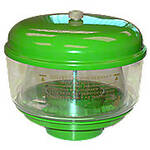 Precleaner Kit: metal lid with brass nut, plastic bowl, & metal base