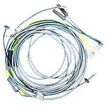 Headlight Wiring Harness Kit for 4 light flat top fenders