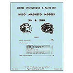 Wico XH and XHD Magneto Service - Instructions and Parts List (1959)