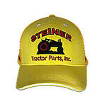 Gold/Yellow Mesh Cap With Red Embroidery, Steiner Tractor Parts, Inc. Baseball Cap