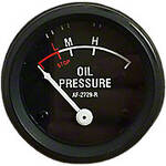 Oil Pressure Gauge (0-55 PSI) - Dash mounted, Black Face