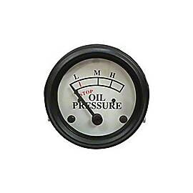 Oil Pressure Gauge (0-25 PSI) - Dash mounted, White Face