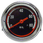 Oil Pressure Gauge (0-80 PSI) - Dash mounted