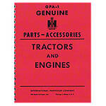 """Genuine IH Parts Accessories"" Service Items & Accessories Manual"
