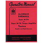 Operators Manual: Farmall Super MTA Gas