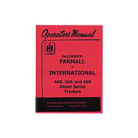 Operators Manual: IH 560 Diesel