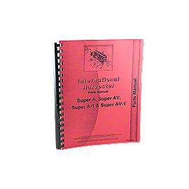 International Harvester Farmall Super A Parts Manual