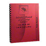 International 154, 184, 185 Cub Loboy Parts Manual Reprint