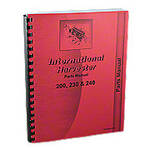 International 200, 230, 240 Parts Manual Reprint