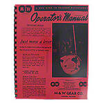 M & W Hand Clutch Reprint Operators Manual & Parts List