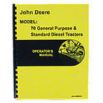 Operators Manual Reprint: JD 70 Diesel Pony Start