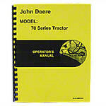 Operators Manual Reprint: JD 70 Gas