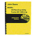 Operators Manual Reprint: JD 430 Row Crop Utility only