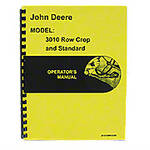 Operators Manual Reprint: JD 3010 Rowcrop & Standard, Gas & Diesel