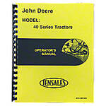 Operators Manual Reprint: JD 40