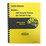 Operators Manual Reprint: JD 430 Tricycle