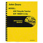 Operators Manual Reprint: JD 420 Tricycle only