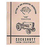 Operators Manual Reprint: Cockshutt 540
