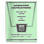 Operator and Parts Manual Reprint: Oliver 60