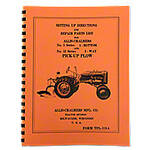 Allis Chalmers Moldboard Plow Setting Up & Repair Parts Manual