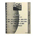 Operator Manual: Ford 601 & 801 Series Diesel